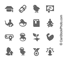Personal Development Icons - Simple Set of Personal...