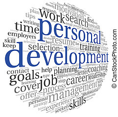 Personal development in tag cloud