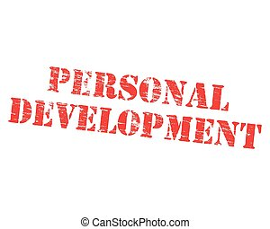 Personal development grungy stencilled word symbol