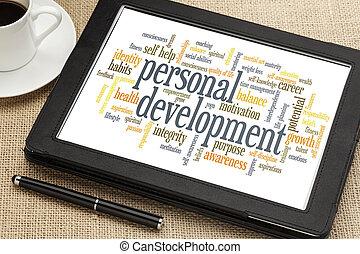 personal development word cloud