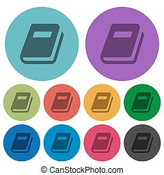 Personal diary color darker flat icons