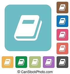 Personal diary rounded square flat icons