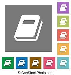 Personal diary square flat icons