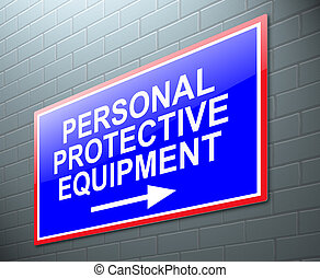 personal, equipo, concept., protector