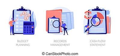 Personal expenses management vector concept metaphors.