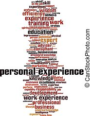Personal experience word cloud