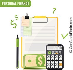 Personal finance, Budget planning concept.
