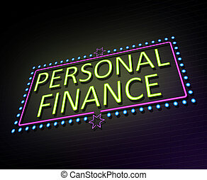 Personal finance concept.