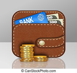 Personal Finance Concept %u2013 Leather - This illustration ...
