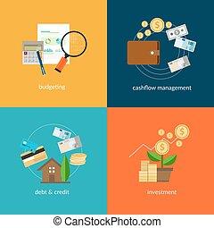 personal finance icon set