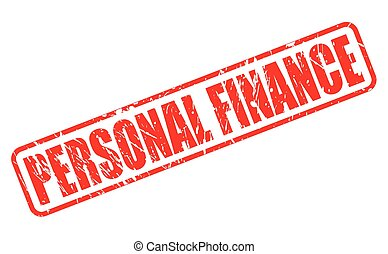PERSONAL FINANCE red stamp text