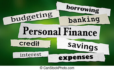 Personal Finance Saving Money Budget Headlines 3d Illustration