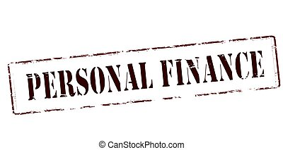 Stamp with text personal finance inside, vector illustration