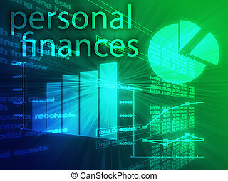 Personal finances illustration of Spreadsheet and business ...