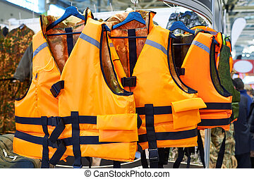 Personal flotation device as life jacket in store - Personal...