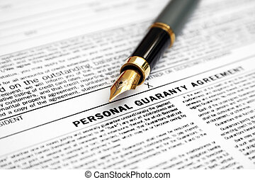 personal, garantía, acuerdo