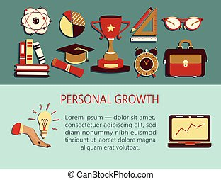 Personal growth creative illustration.