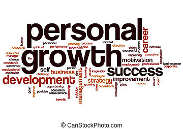 Personal growth word cloud concept