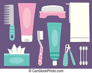 Personal Hygiene Elements Illustration