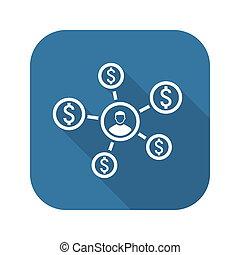 Personal Income Icon. Business Concept.