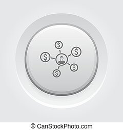 Personal Income Icon. Business Concept