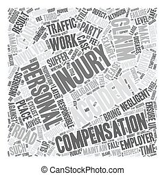 Personal Injury Accident Types text background wordcloud concept