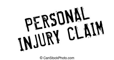 Personal Injury Claim rubber stamp