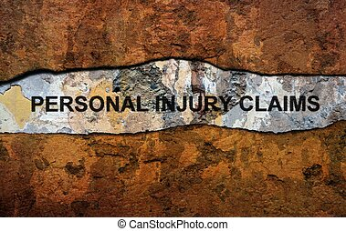 Personal injury claim text on wall