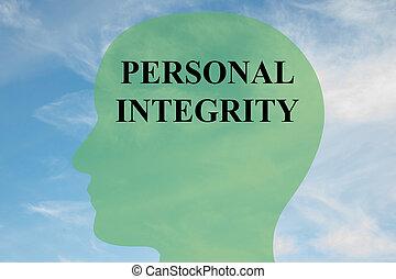 personal, integridad, concepto, mente