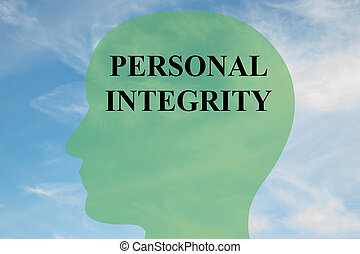 Personal Integrity mind concept - Render illustration of...