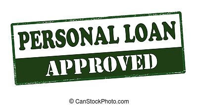 Personal loan approved - Rubber stamp with text personal...
