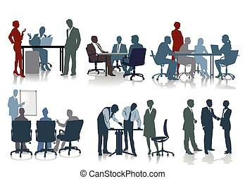Personal Meeting.eps - coworker and employee at office...