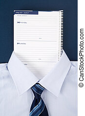 Personal Organizer and shirt, Business Concept