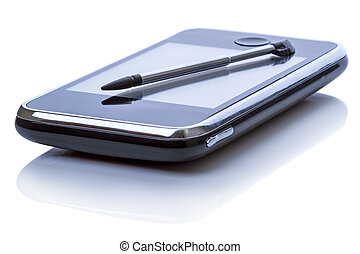 Personal organizer and stylus - Palmtop (personal organizer)...