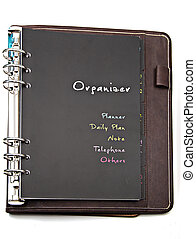 Personal organizer  isolated on white background