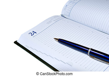 personal business organizer with blank page