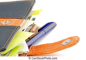 Personal organizer representing organizer features and...