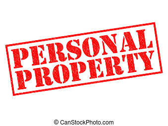 PERSONAL PROPERTY red Rubber Stamp over a white background.