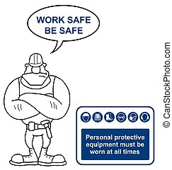 Personal Protection Equipment Sign - Construction industry...