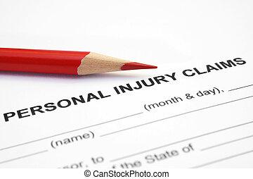 personal, reclamo, lesión