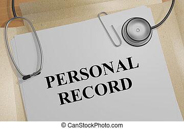 PERSONAL RECORD concept