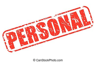 Personal red stamp text