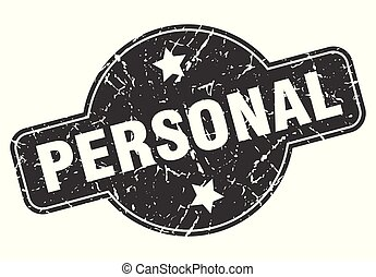 personal round grunge isolated stamp