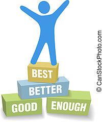 personal, sí mismo, celebrar, mejora