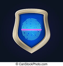 Personal safety. Fingerprint verification and data ...