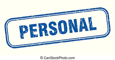 personal stamp. personal square grunge sign. personal