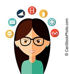 personal thought design, vector illustration eps10 graphic