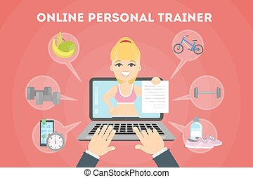 Personal trainer online.