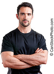 Personal Trainer - Personal trainer with is arms crossed,...