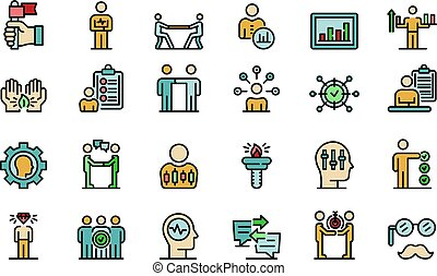 Personal traits icons set vector flat